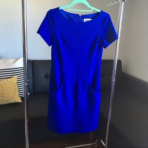 Eliza J Cobalt Blue Dress with Pockets!